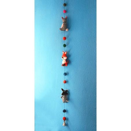 Móvil infantil Animalitos hecho en fieltro