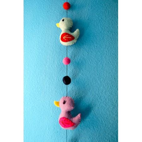 Móvil infantil Patitos, regalos originales para bebes y niños