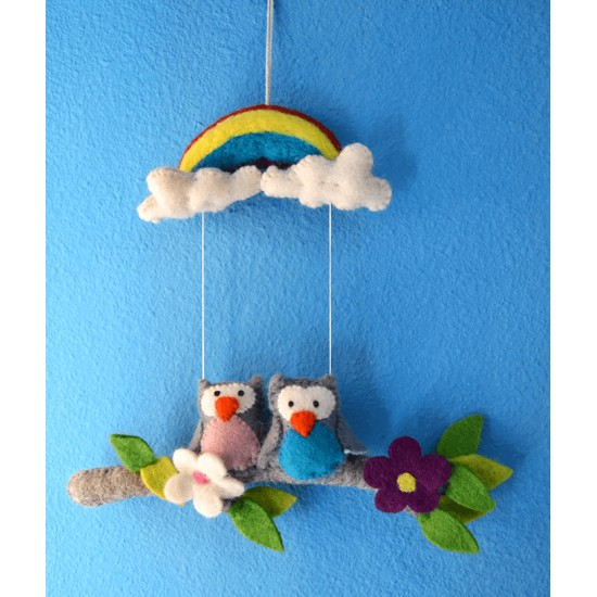 Móvil infantil buhitos, regalos originales para bebes