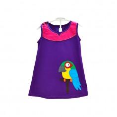 Vestido Niña Colorido Guacamayo
