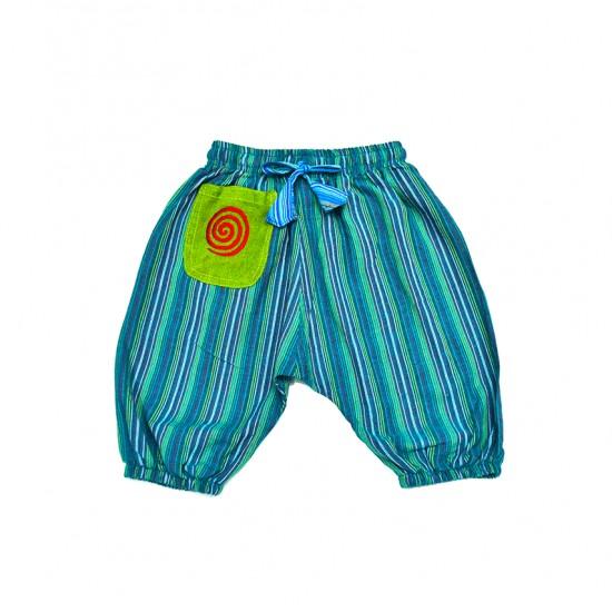 Pantalon hippie niño rayas Nepal