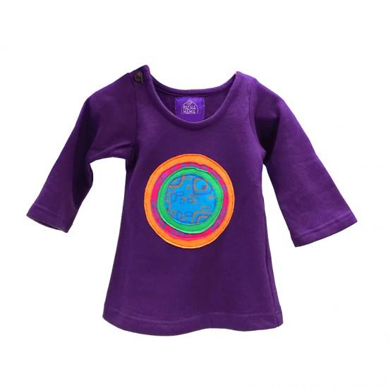 Vestido Círculo estilo etnico, ropa abrigada para niñas