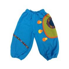 Pantalón Polar Afgano Círculos, ropa para niños estilo hippie y etnico