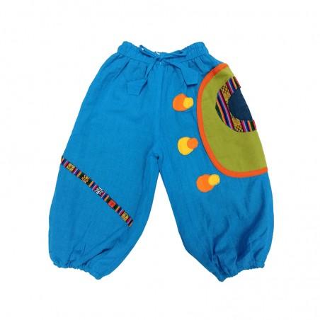 Pantalón Polar Afgano Círculos, ropa alternativa y colorida para bebes
