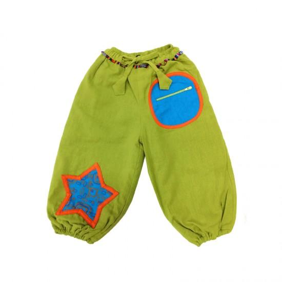 ⛄ Pantalón bombacho Estrella, ropa original y hecha a mano para niños