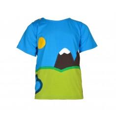 Camiseta niño manga corta montaña Machapuchare