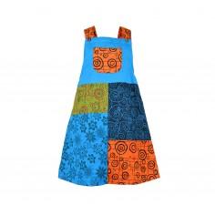 Vestido Estampado Desigual Patchwork para niñas