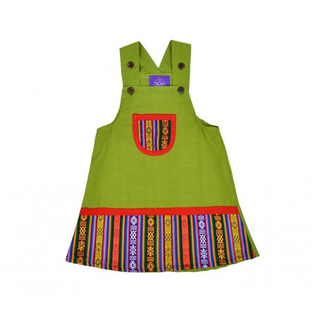 Vestido etnico para niñas, ropa infantil divertida y original para niños