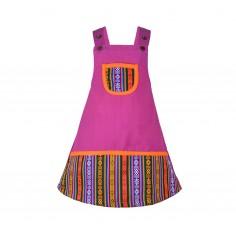 Vestido para niñas, ropa hippie infantil, vestido colorido