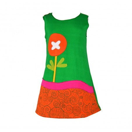 Vestido niña de punto sin mangas Paisaje Floral