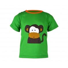 Camiseta niño manga corta Monito Verde