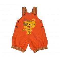 Peto Corto Bebe Gato Naranja