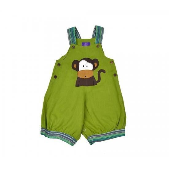 Peto corto Bebe Mono Verde