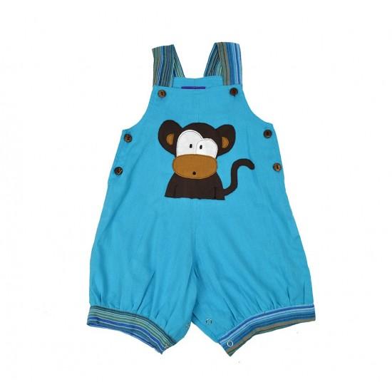 Peto corto Bebe Mono Azul