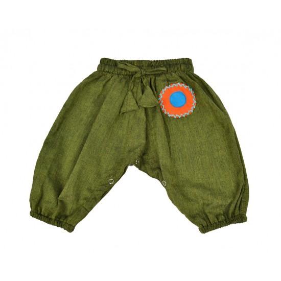 Pantalón Hippie Bebe bubble Verde