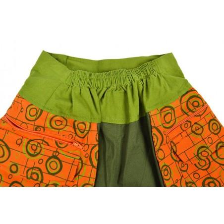 Pantalón Estampado con Riñonera Verde