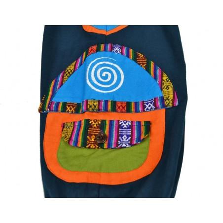 Pantalón Afgano para niños Etnico Papua Azul