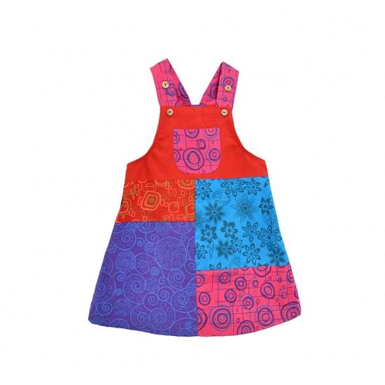 Vestido Desigual Patchwork para niñas, ropa para niños divertida
