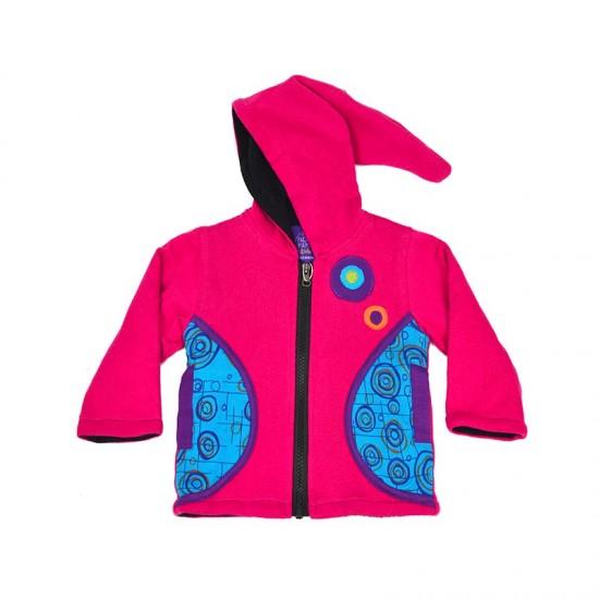 Chaqueta para niños y niñas color rosa con capucha