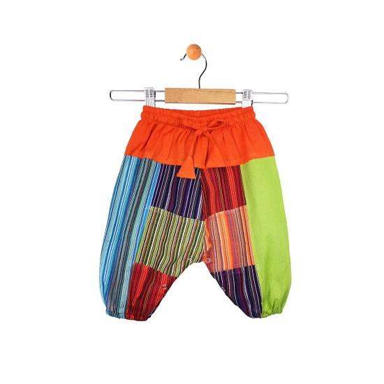 Pantalón bebe de harem patchwork hippie