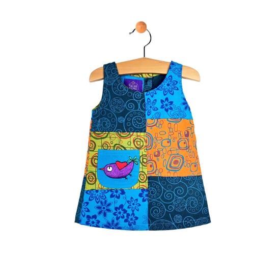Vestido niña Parches Estampado