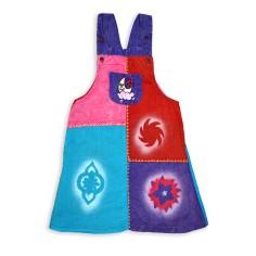Vestido Etnico lavado en piedra para niñas