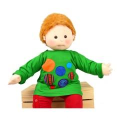 Camiseta larga con burbujas para bebes. Moda alternativa infantil. Ropa divertida niños