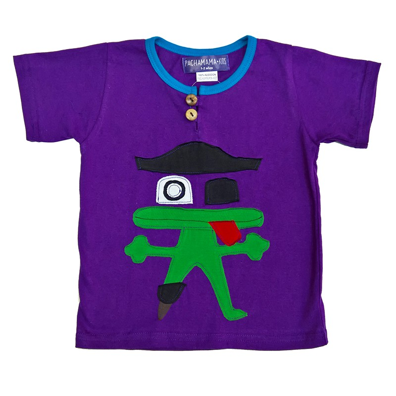 Camiseta para ni os rana pirata ropa hippie para ni os online for Camisetas hippies caseras