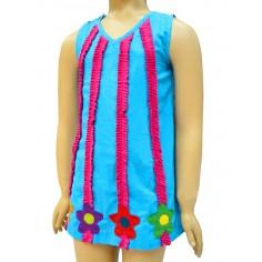 Vestido para niñas Flores Hippie