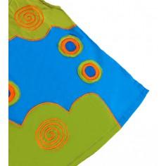 Vestido Hippie Espiral Verde