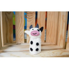 Marioneta de dedo fieltro Vaquita