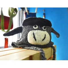 Gorro infantil de lana burro