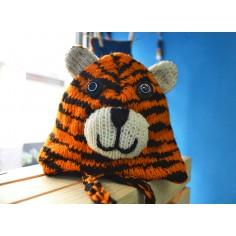 Gorro infantil de lana Tigre