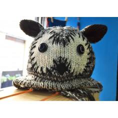 Gorro infantil de lana Mapache