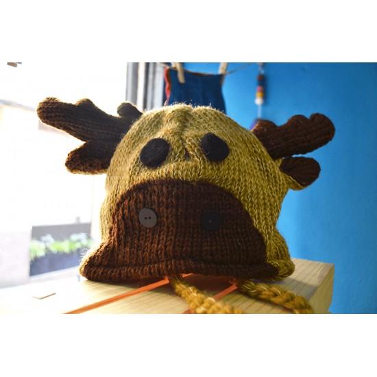 Gorro infantil de lana Reno