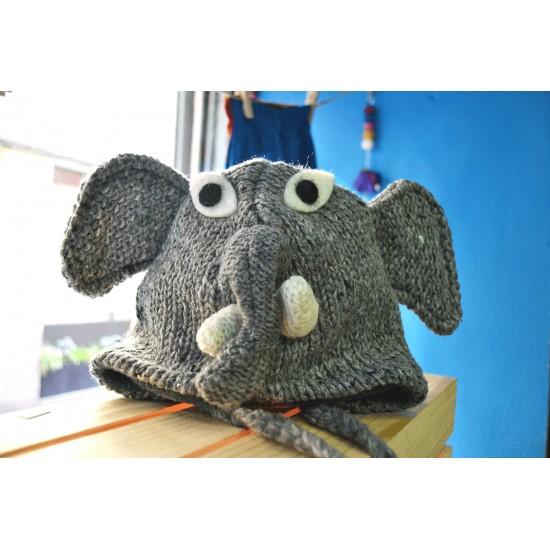 Gorro infantil de lana Elefante