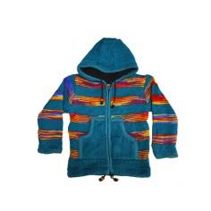 Chaqueta Hippie multicolor de lana