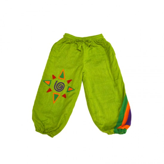 Pantalon bombacho niño patchwork