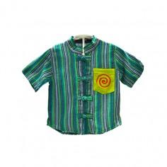 Camisa Cuello Mao Infantil