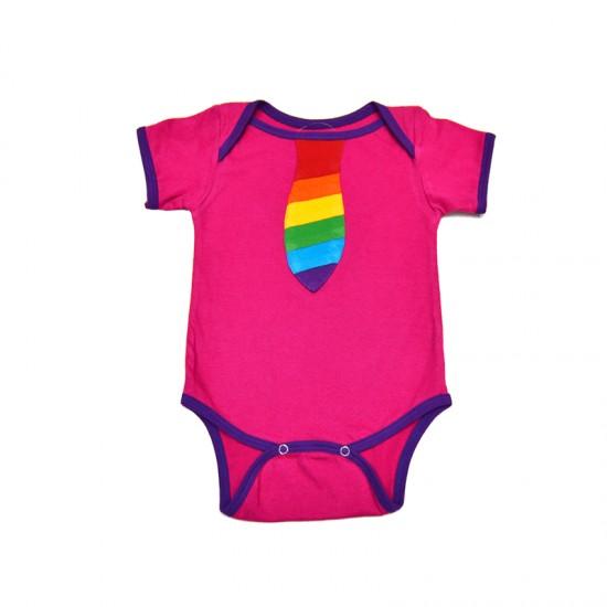 Body Hippie Orgullo Corbata para bebé
