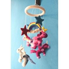 Movil Carrusel Unicornio, regalos para bebes