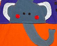 naranja - morado